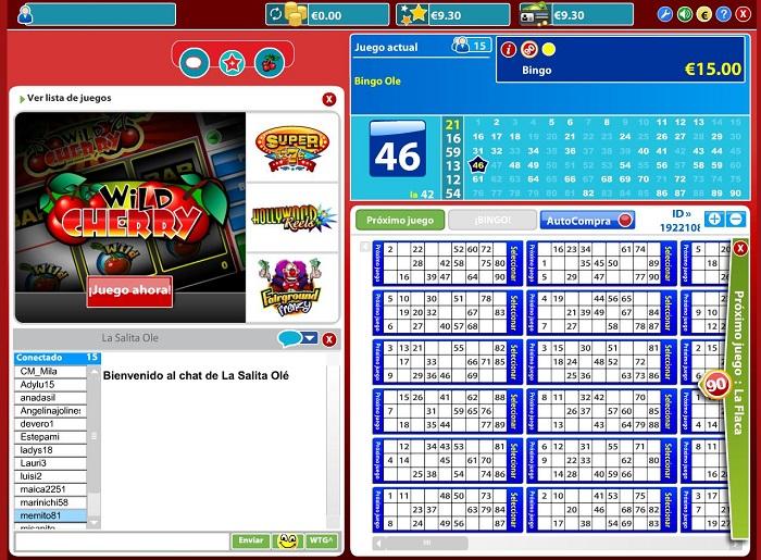 Sala de Bingo Online de Bingo Olé