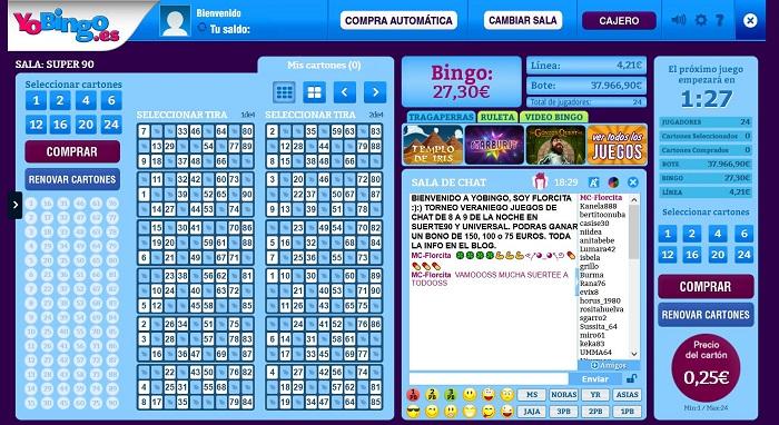 Bingo Online Multijugador de YoBingo.es