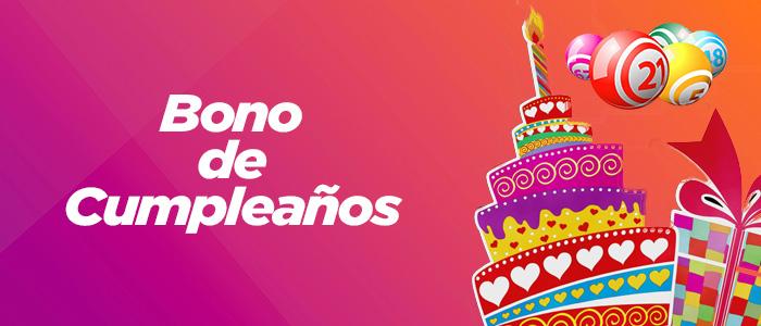 Promocion Bingo Online Bono cumpleaños