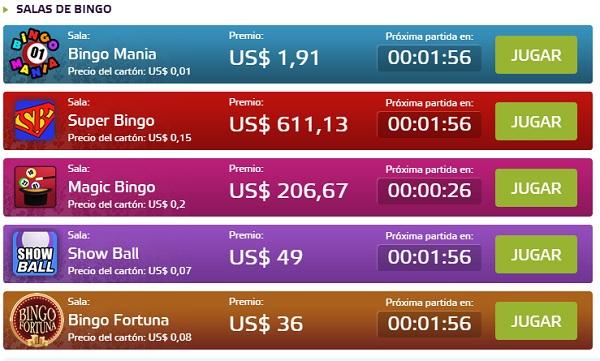 salas de bingo online en Betmotion