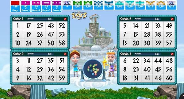 zeus video bingo